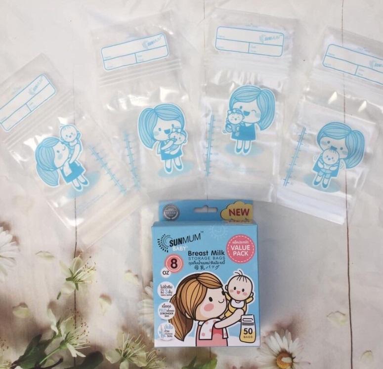 Túi trữ sữa SunMum cao cấp xuất xứ từ Thái Lan