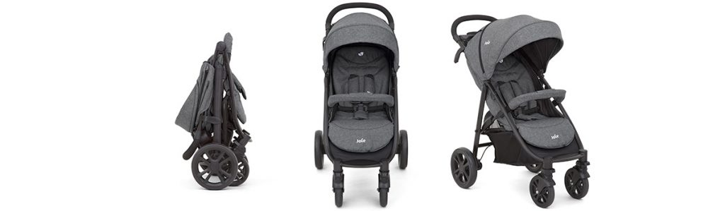 Xe đẩy em bé Joie Litetrax 4 Chromium gấp gọn nhanh chóng và tiện lợi